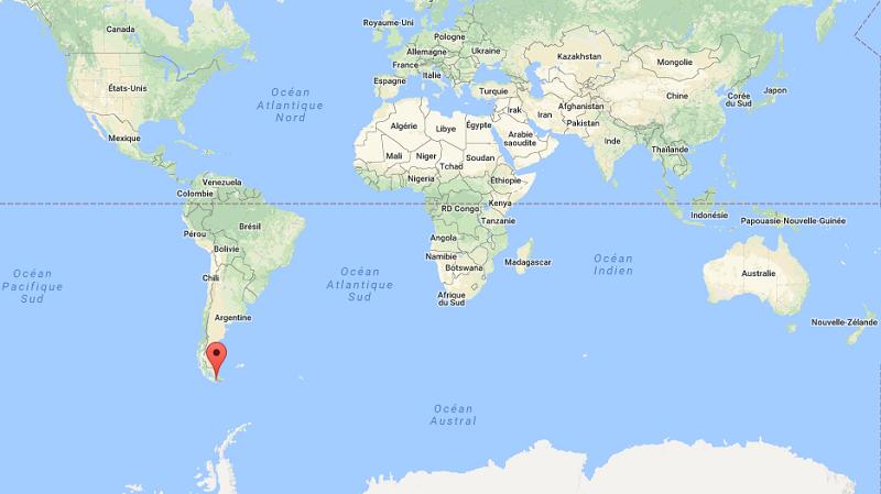 patagonie carte du monde Patagonie, Ushuaïa : La ville du coin du monde   Universlemonde.com